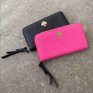 Kate Spade Zip Leather Wallet (PINK)